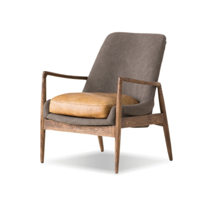 RAMONA OCCASIONAL CHAIR, GREY/TAN