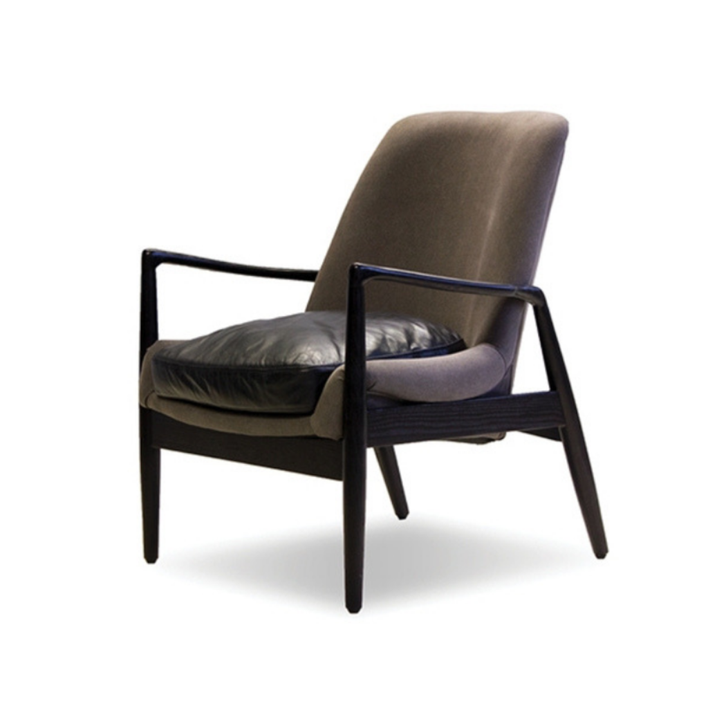 RAMONA OCCASIONAL CHAIR, GREY/BLACK
