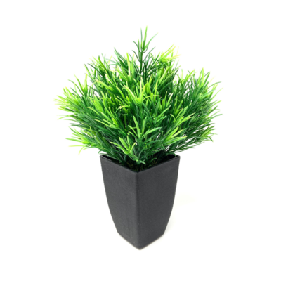 POTTED GRASSY BUSH, 12.5""
