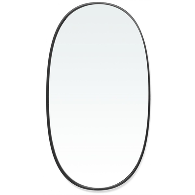BORBA BLACK OVAL MIRROR, LARGE