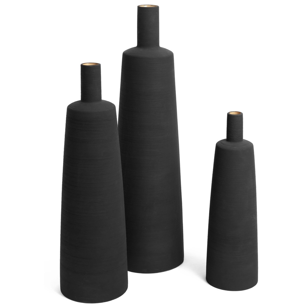 PERTH CERAMIC VASE, BLACK, MEDIUM
