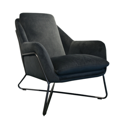 RUIZ OCCASIONAL CHAIR, GREY VELVET