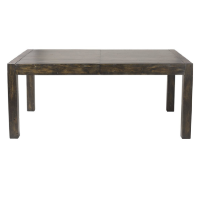 POST & RAIL LARGE EXTENSION DINING TABLE, GOLDRUSH, 72 X 44 X 30.5