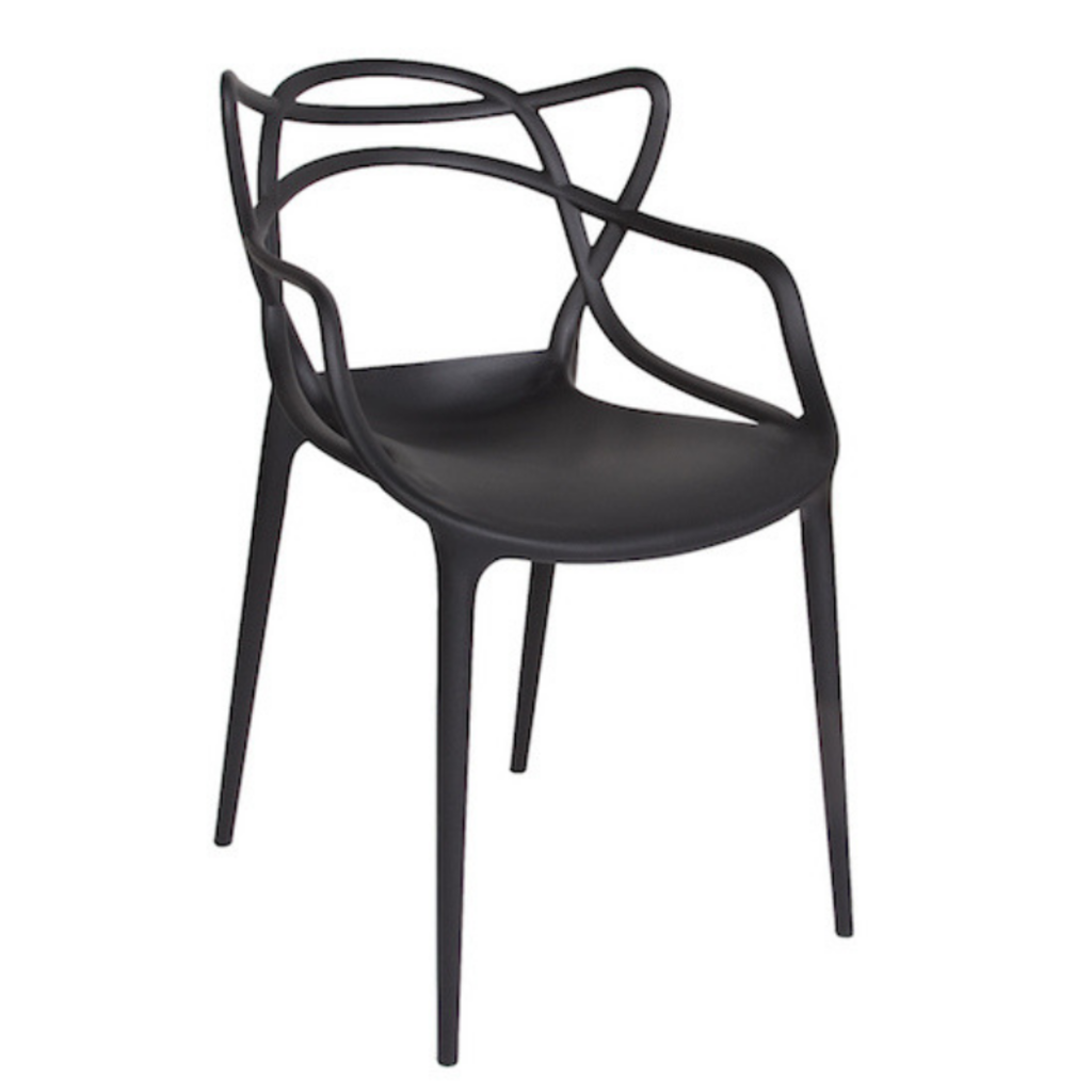 Style in Form CRANE CHAIR, BLACK PLASTIC