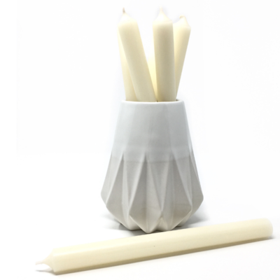 "IVORY 10"" TAPER CANDLE"