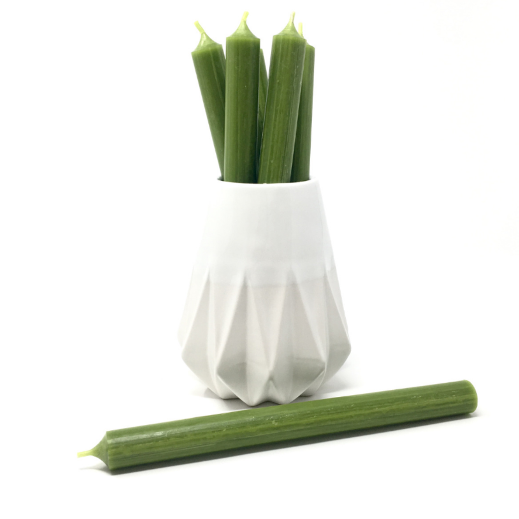 """OLIVE 10"""" TAPER CANDLE"""
