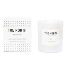 Vancouver Candle Co. VCC THE NORTH BOXED SCENTED CANDLE, 13 OZ. AMBER, ARCTIC HEATHER, MOSS