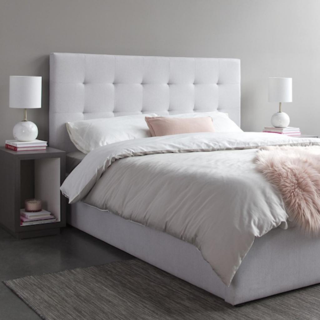 Style in Form JUNO QUEEN BED, LIGHT GREY