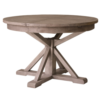 IRISH COAST ROUND EXTENSION TABLE, SUNDRIED