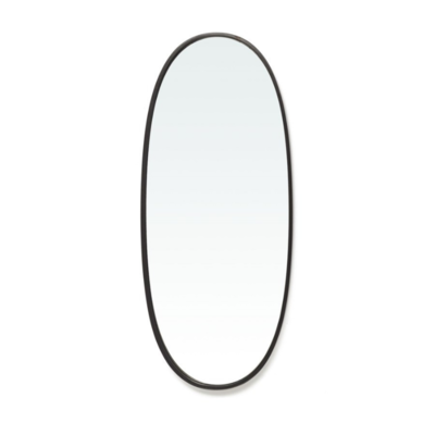 BORBA SMALL OVAL MIRROR, BLACK