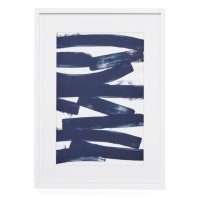 CROSWELL FRAMED WALL ART, NAVY