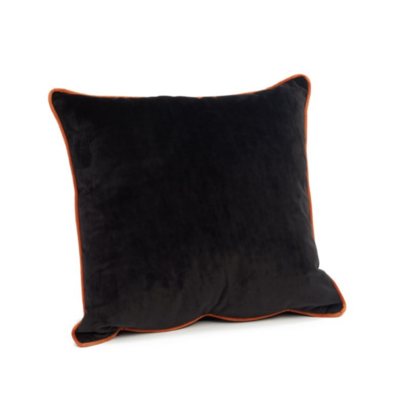 COLOGNE VELVET PILLOW, BLACK