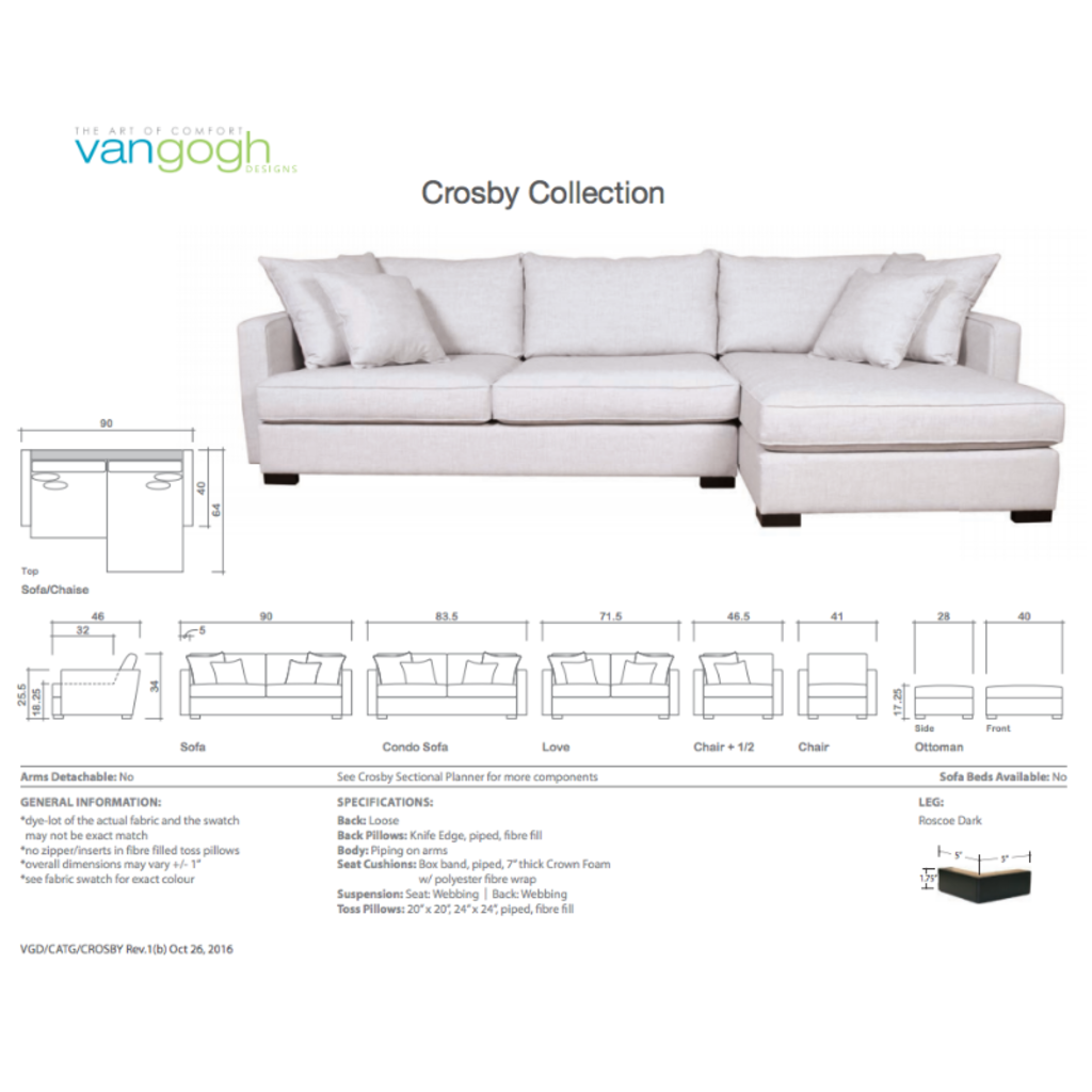 CROSBY COLLECTION, CUSTOMIZABLE