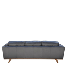 MELODY LEATHER SOFA, BLACK