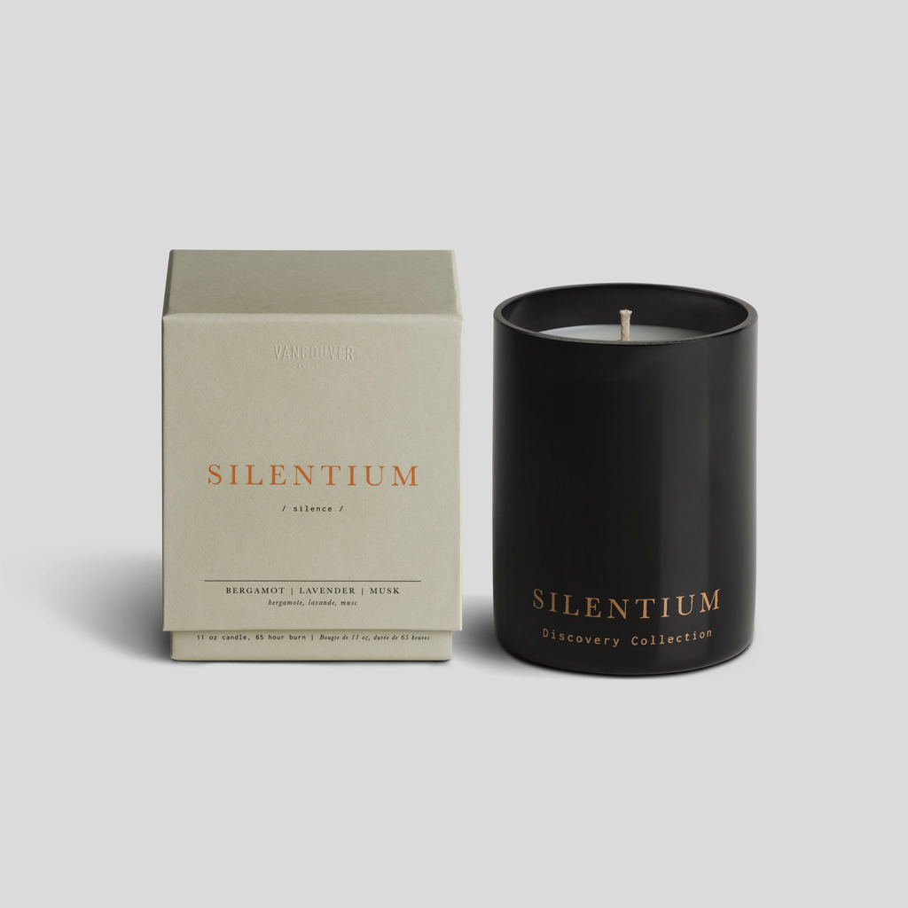 Vancouver Candle Co. VCC SILENTIUM BOXED SCENTED CANDLE, 11 OZ