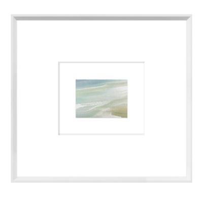 "AQUA SURF DETAIL I FRAMED ART, 21 X 19.5"""