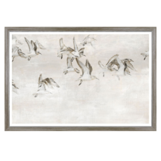 """SANDPIPERS TAKE WING, 35.25"""" X 51"""""""