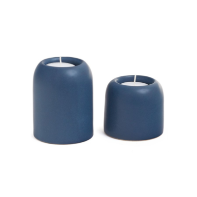 SORRENTO TEA LIGHT HOLDER, NAVY, LARGE