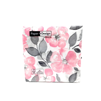 GENTLE FLOWERS, 20 NAPKINS