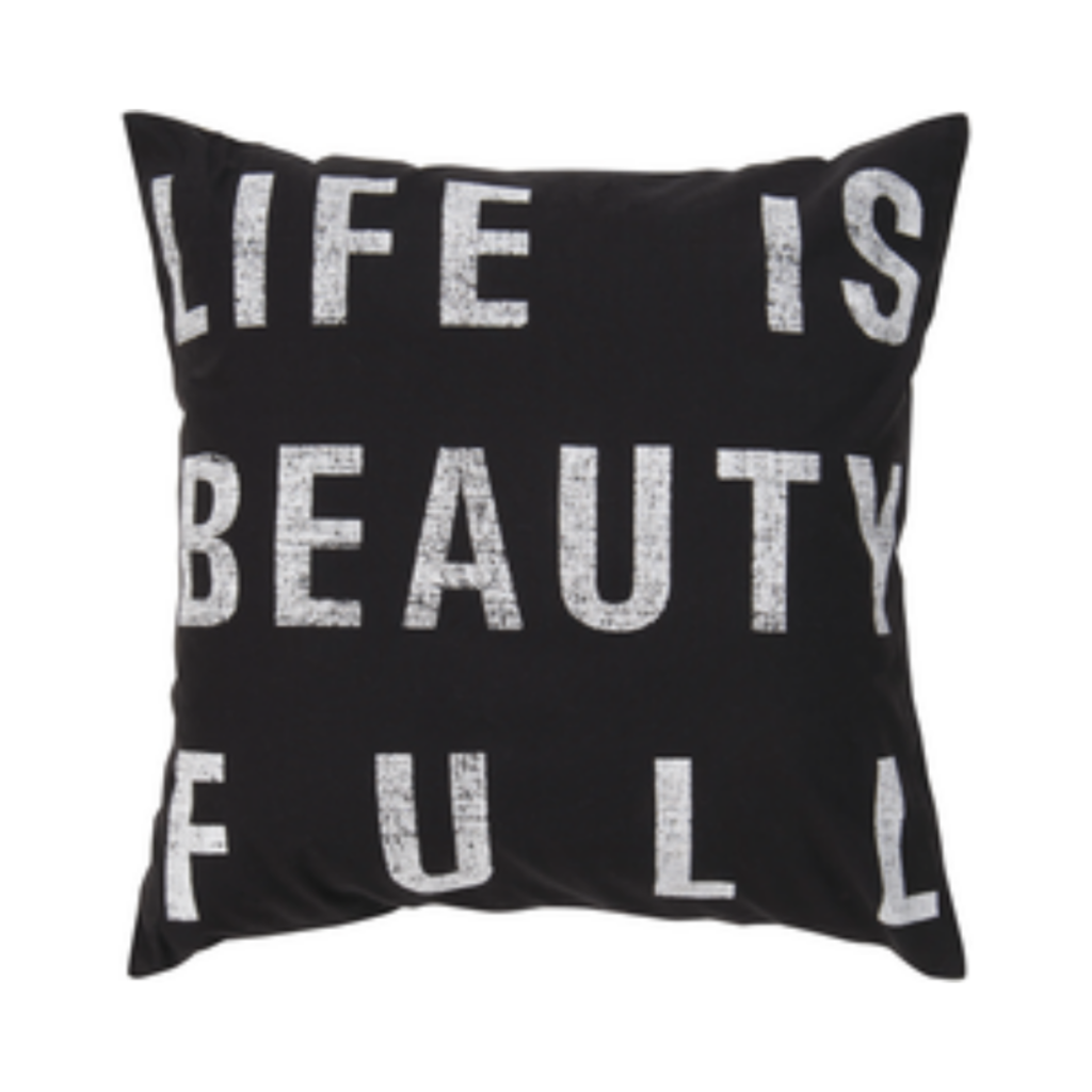 Surya (RSC Inc.) LIFE IS BEAUTY FULL PILLOW