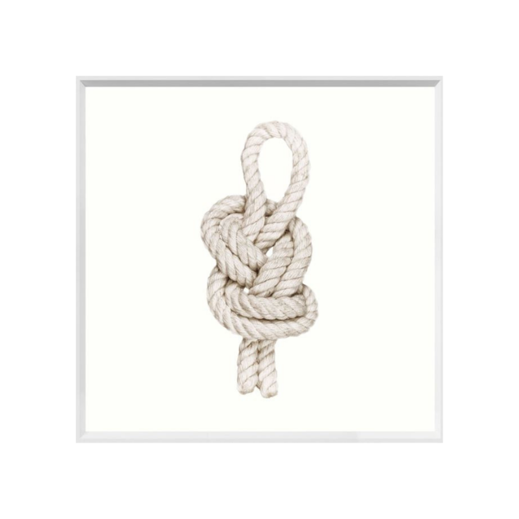 FIGURE EIGHT KNOT, FRAMED ART, SMALL