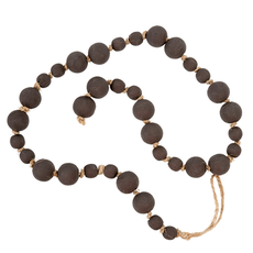 WOODEN PRAYER BEADS, COFFEE BROWN