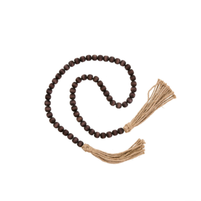 TASSEL PRAYER BEADS, BROWN
