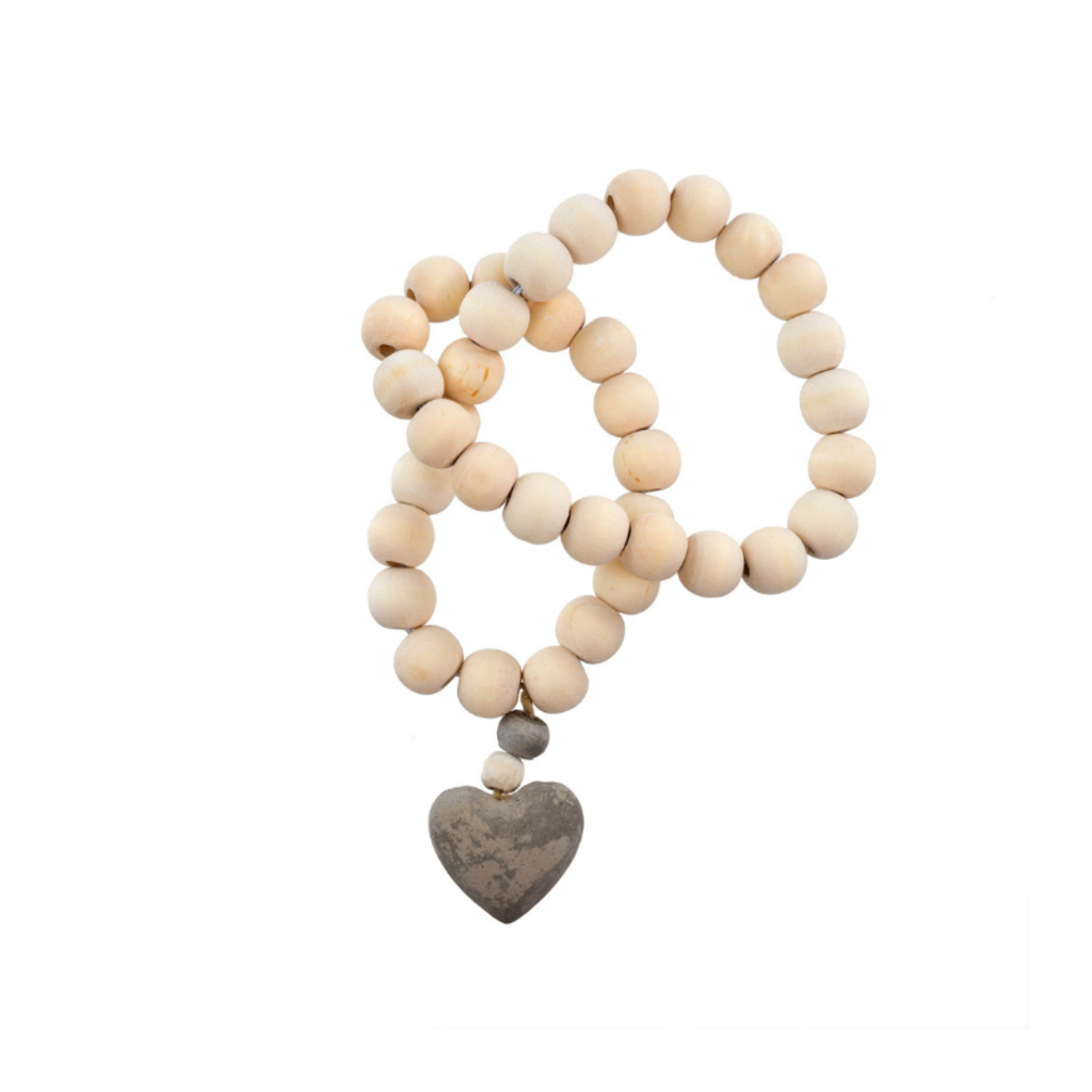 WOODEN PRAYER BEADS WITH HEART