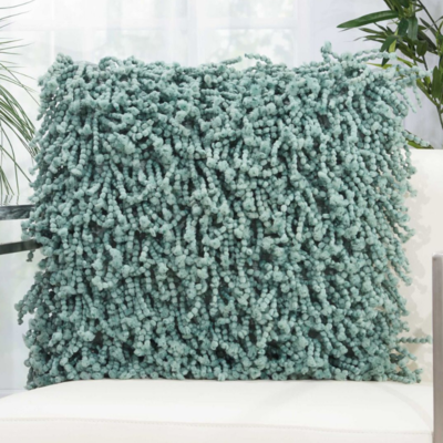 Nourison Home SHAG SPACE DYED, CELADON, 20 X 20""