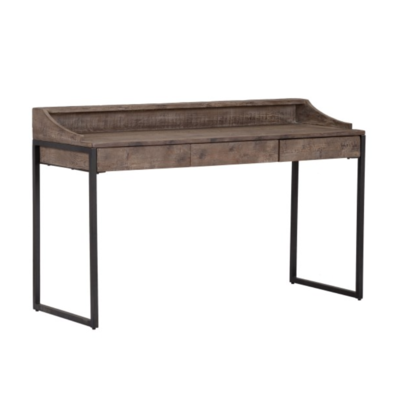 Classic Home SEWARD DESK, PINE TOP W/ IRON BASE