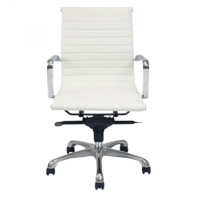 OMEGA OFFICE CHAIR, WHITE, LOW BACK