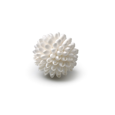 "BUBBLE SHELL BALL, SMALL, 3"", WHITE"