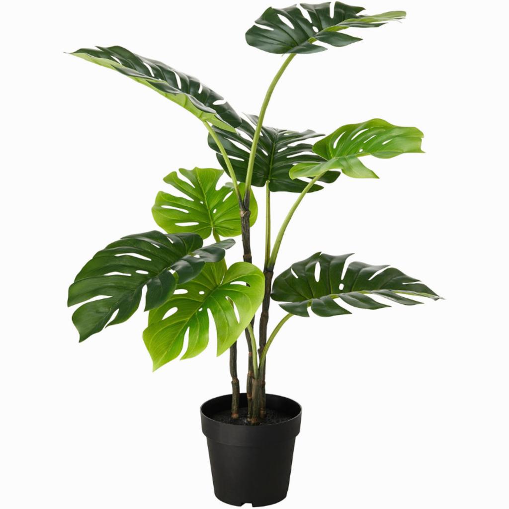 "FAUX MONSTERA PLANT, 24"""