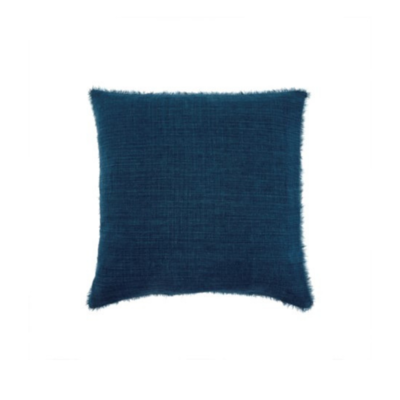LINA LINEN PILLOW, COBALT