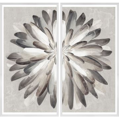 "FEATHER BOUQUET ART, 25"" X 50"" EACH"