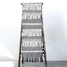Creative Coop COTTON TABLE RUNNER WITH FRINGE