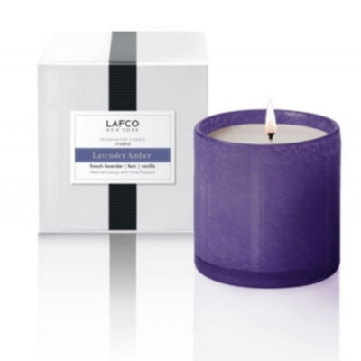 Lafco LAFCO LAVENDER AMBER 15.5OZ SCENTED CANDLE