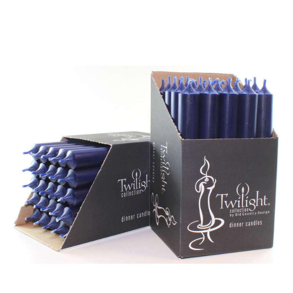 """NAVY BLUE 10"""" TAPER CANDLE"""