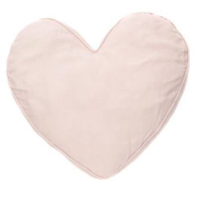 Brunelli LINEN HEART PILLOW, PINK