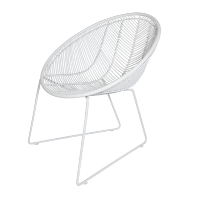 Style in Form WEAVE CHAIR, WHITE