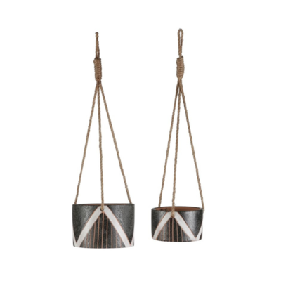 Modus Lifestyle ELAN POT HANGING, STRIPE