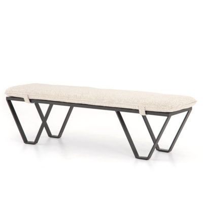 Four Hands DARWIN BENCH, PERIN OATMEAL