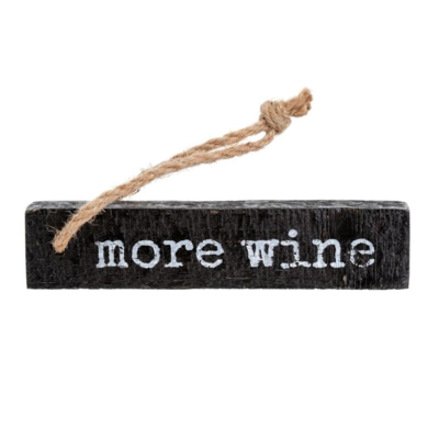 MORE WINE, WOODEN NOTE