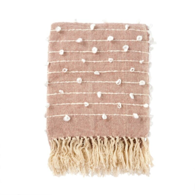 KNOT & WEAVE THROW, ROSE