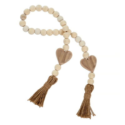 HEART BLESSING BEADS, NATURAL
