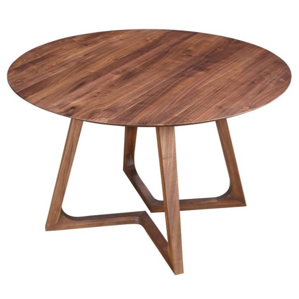 COSTANZA ROUND WALNUT DINING TABLE