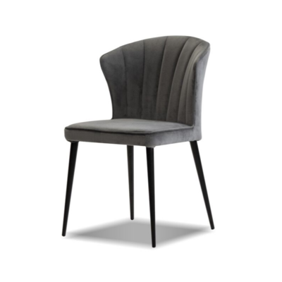 TRITON DINING CHAIR, GREY VELVET
