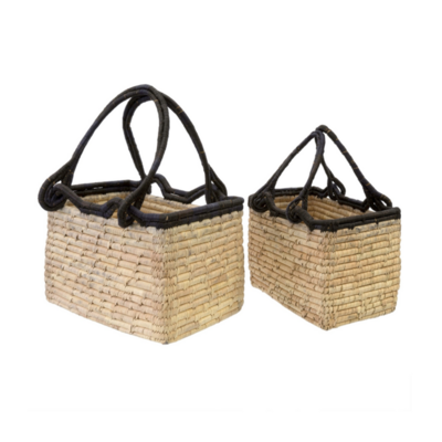 DATE LEAF MAGAZINE BASKET, SMALL