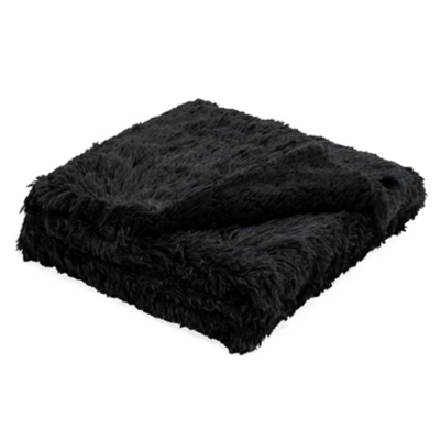 Torre Tagus BLACK FRINGE SHERPA THROW