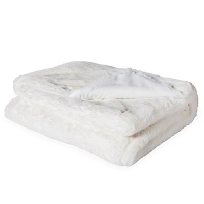 Torre Tagus ULTRA MINK FAUX FUR THROW, CREAM